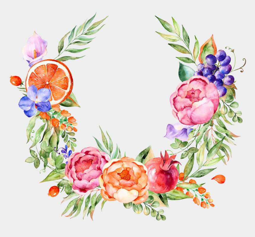 grape clipart, Cartoons - Decoration Flower Grape Watercolor Design Floral Painting - Watercolor Flower Free Clip Art