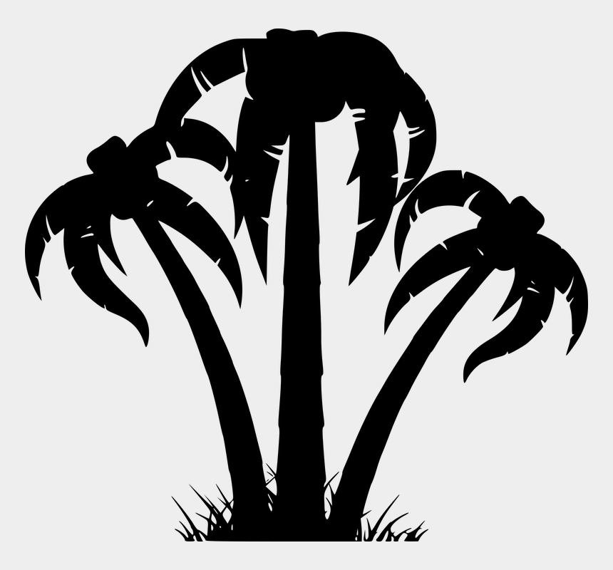 palm trees clipart, Cartoons - Silhouette Tree Palm Tribe Aesthetic Branches - Summer Tree Vector Png