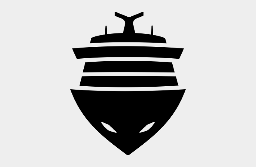 cruise ship clipart, Cartoons - Cruise Ship Clipart Black And White - Ship Front View Png