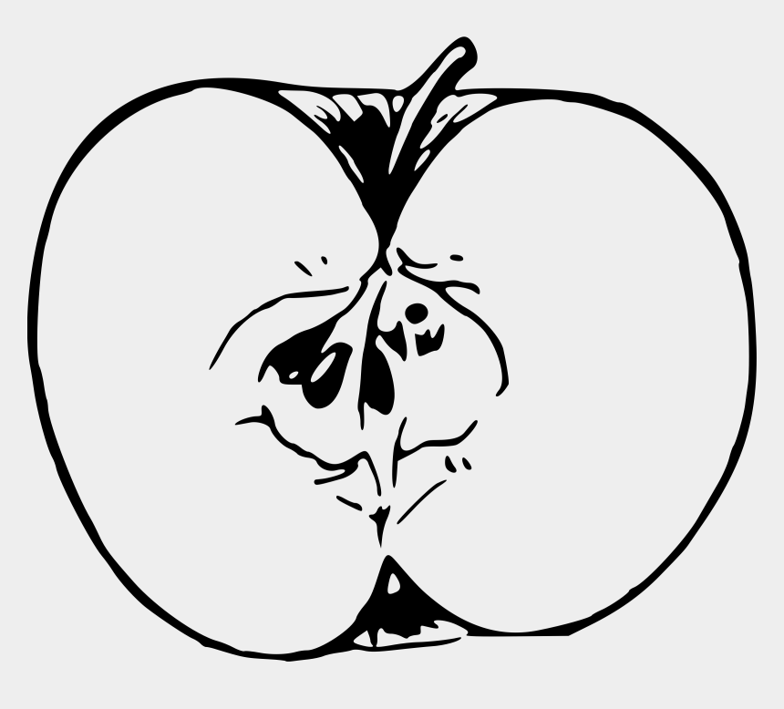 pie clipart black and white, Cartoons - Apple Line Drawing At Getdrawings - Apple Cut Clip Art Black And White