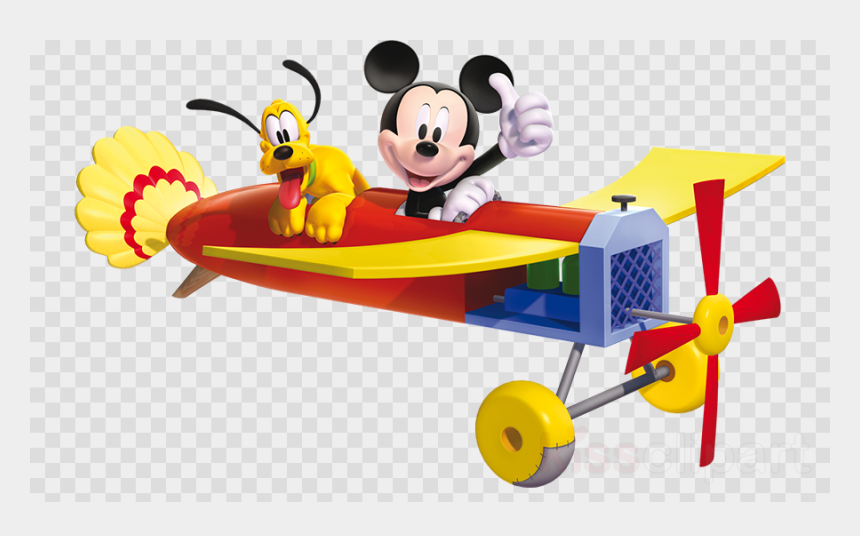 airplane clipart no background, Cartoons - Mickey Mouse On A Plane Clipart Mickey Mouse Minnie - Mickey Mouse In Airplane