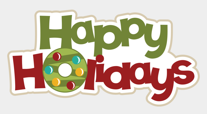 happy holidays clipart, Cartoons - Happy Holidays Christmas Title, $0