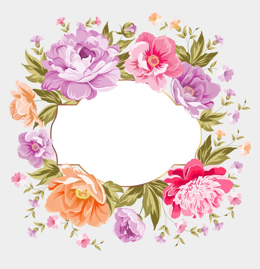 spring flower clipart, Cartoons - 67185691 Flower Clipart Cute Sprig Of Spring Flowers - Wedding Flower Frame Png