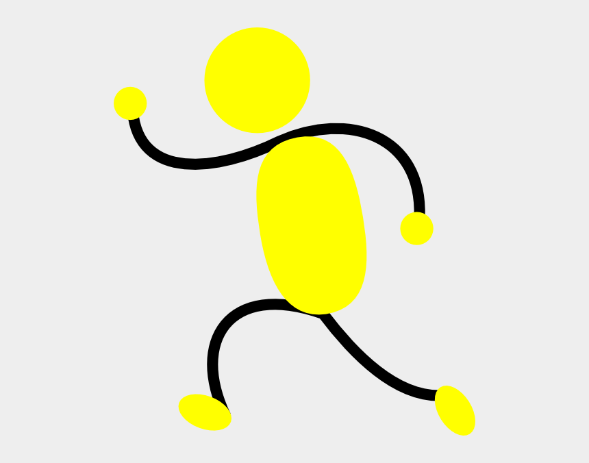 runner clipart, Cartoons - Yellow Man Running Left Clip Art - People Running To The Left