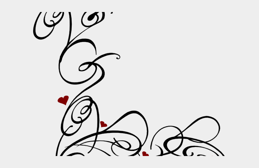 swirls clipart, Cartoons - Decorative Line Black Clipart Swirl - Swirl Designs No Background