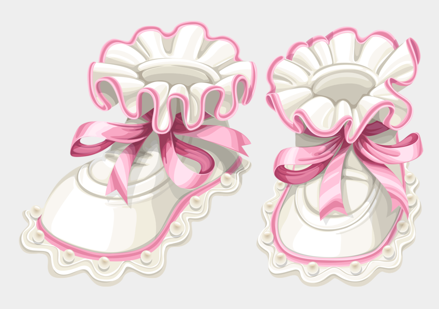 girls shoes clipart, Cartoons - Baby Shoes Clipart Png - Pink Baby Booties Png