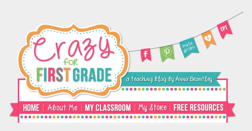 shop til you drop clipart, Cartoons - Crazy For First Grade - Banner