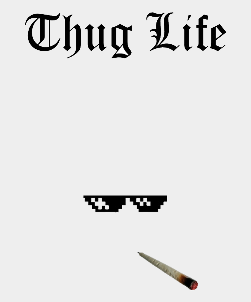 thug life clipart, Cartoons - Thug Transparent Template - Death Note