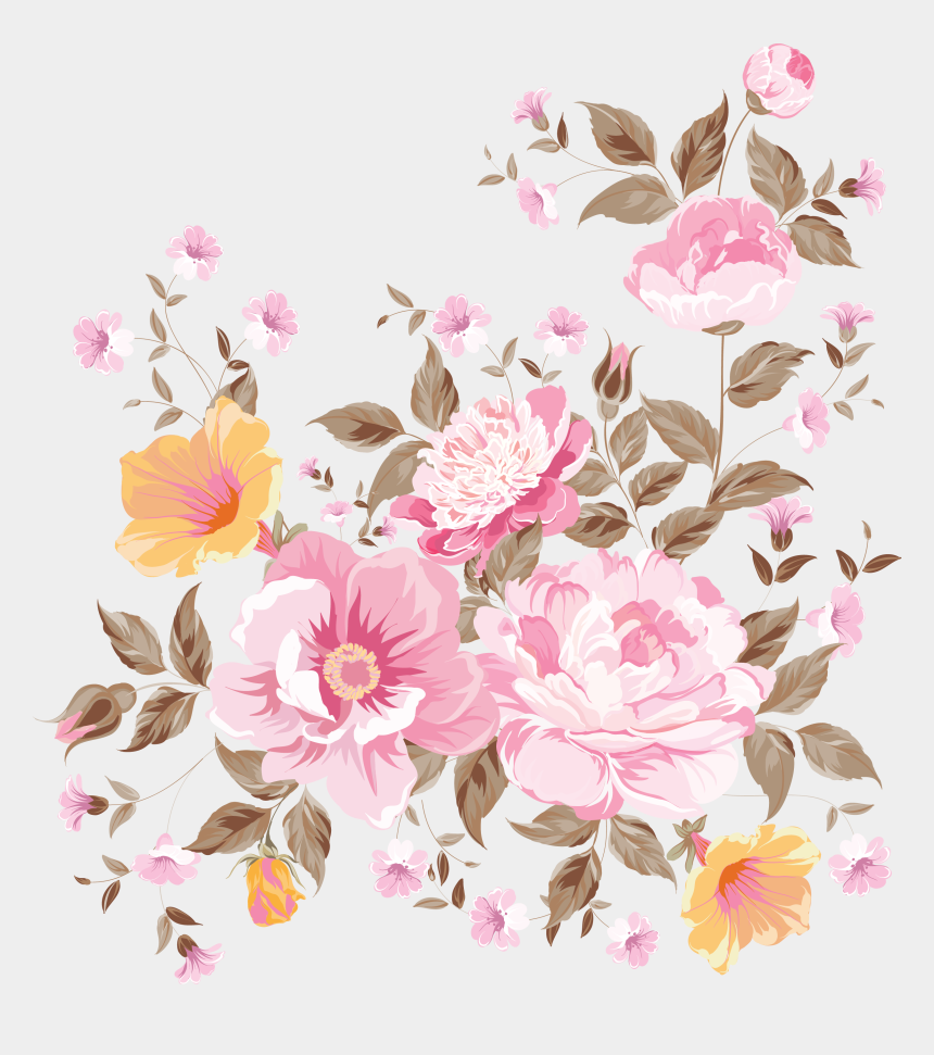 flower bunch clipart, Cartoons - My Design / Beautiful Flowers - Vector Hand Painted Flowers Png