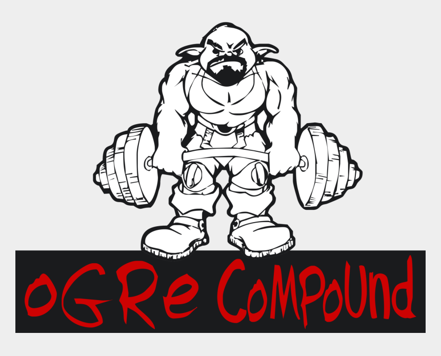 weight training clipart, Cartoons - Weightlifter Drawing Strength Training - Illustration