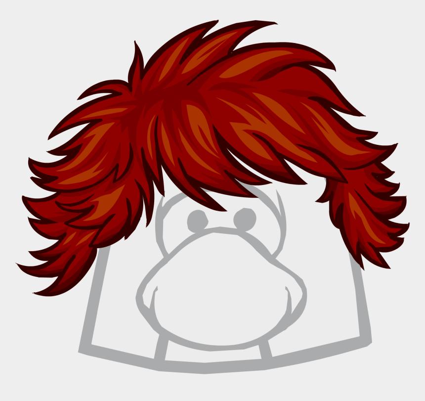 club penguin clipart, Cartoons - Red Hair Clipart Club Penguin - Club Penguin Earth Hat