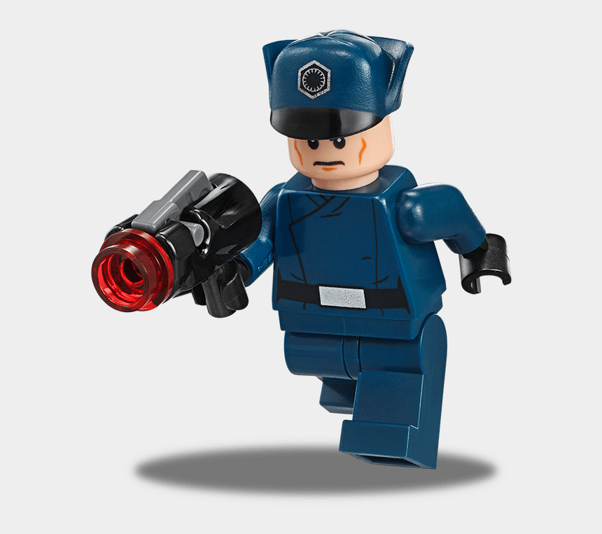 lego guy clipart, Cartoons - He Has A Black Scarf Wrapped Around His Neck - Lego Star Wars First Order Colonel