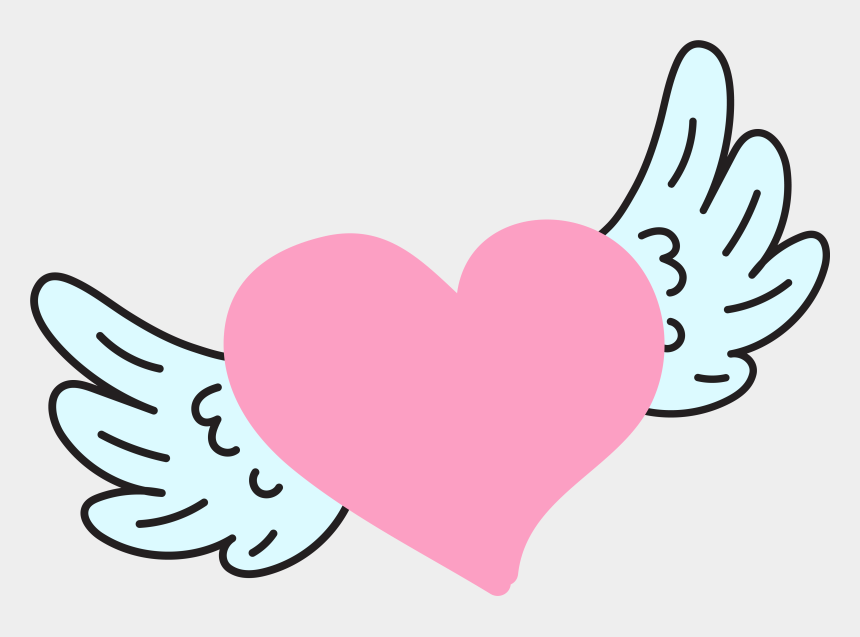 your wings were ready but my heart was not clipart, Cartoons - It's Made Me Want To Hide Away And Keep My Little Voice - Love Heart With Wings Png