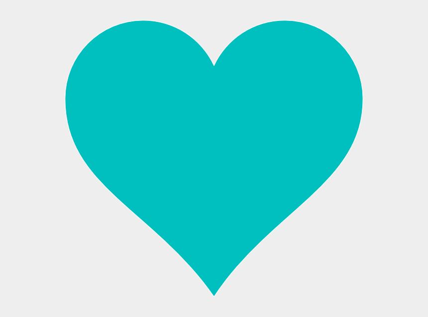 turquoise clipart, Cartoons - Blue Heart Clip Art At Clker - Teal Heart Clipart