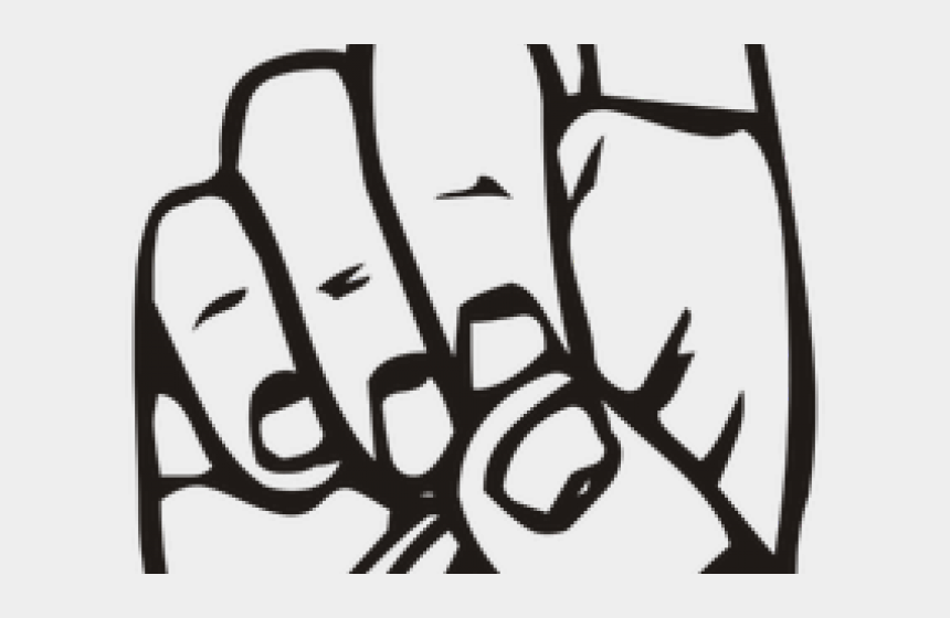 middle finger clipart black and white, Cartoons - Middle Finger Clipart - Sign Language D Png