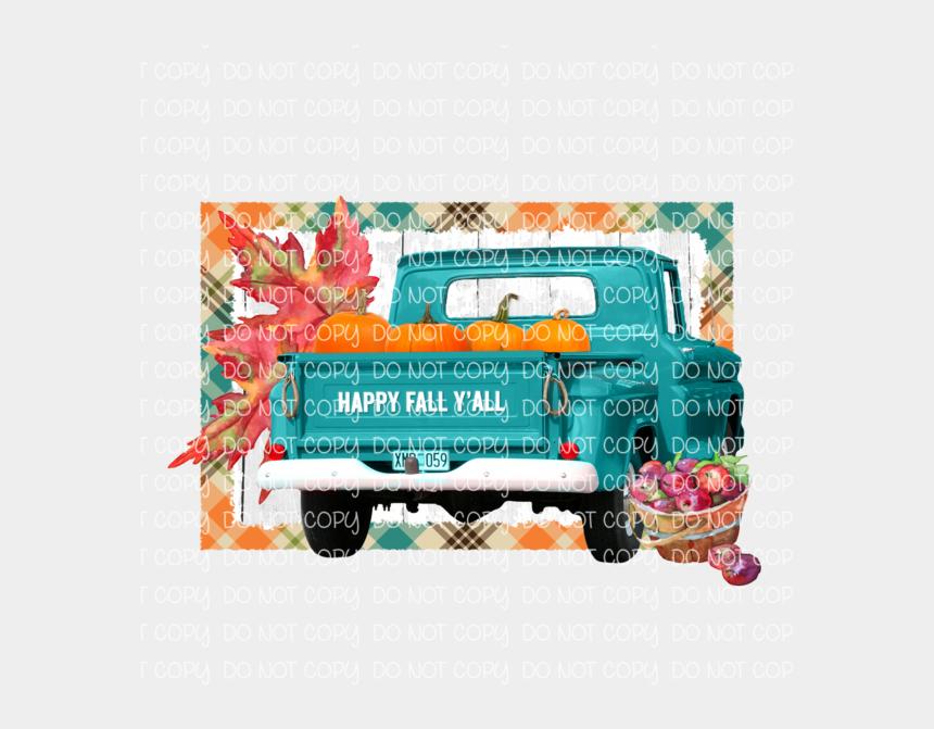happy fall y'all clipart, Cartoons - Happy Fall Y'all Fall Truck - Craft