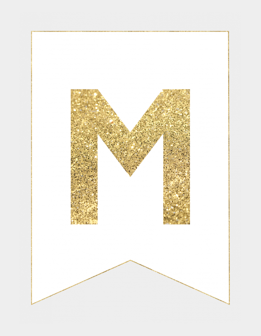 graphic about Printable Banner Letters called Gold Cost-free Printable Banner Letters - Motif, Cliparts