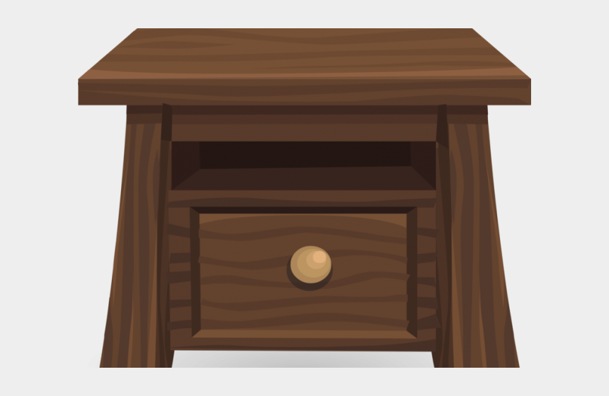 road side view clipart, Cartoons - Desk Clipart Side View - End Table