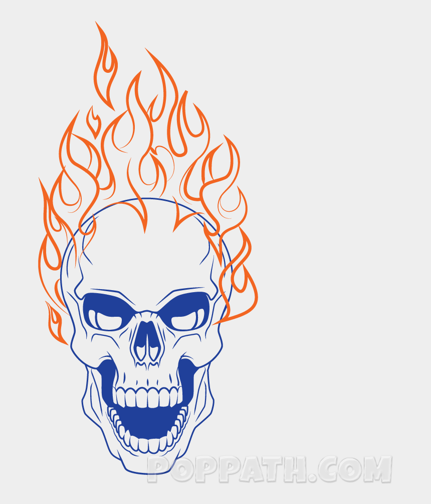flaming skull clipart, Cartoons - Play Slideshow - Flaming Skull No Background