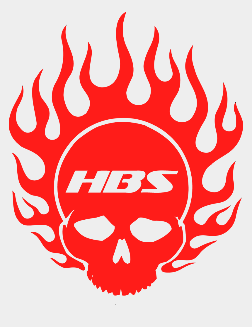 flaming skull clipart, Cartoons - Hbs Flaming Skull Decal - Hell Bent Steel