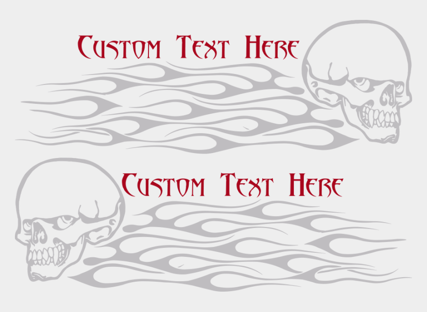 flaming skull clipart, Cartoons - Flaming Skull Fs9 Gas Tank Decals - Sketch
