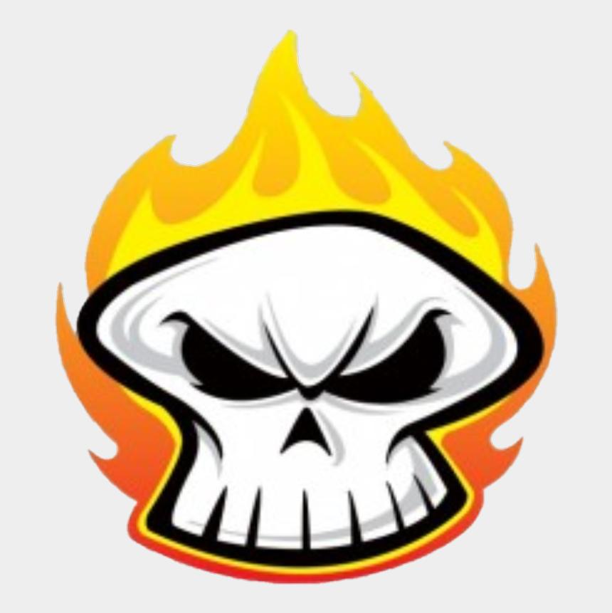 flaming skull clipart, Cartoons - #skulls #skull #fire #flames - Cartoon Skull On Fire