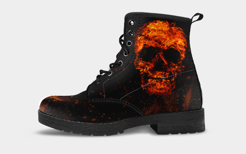 flaming skull clipart, Cartoons - Flaming Skull Png - Boots With British Flag