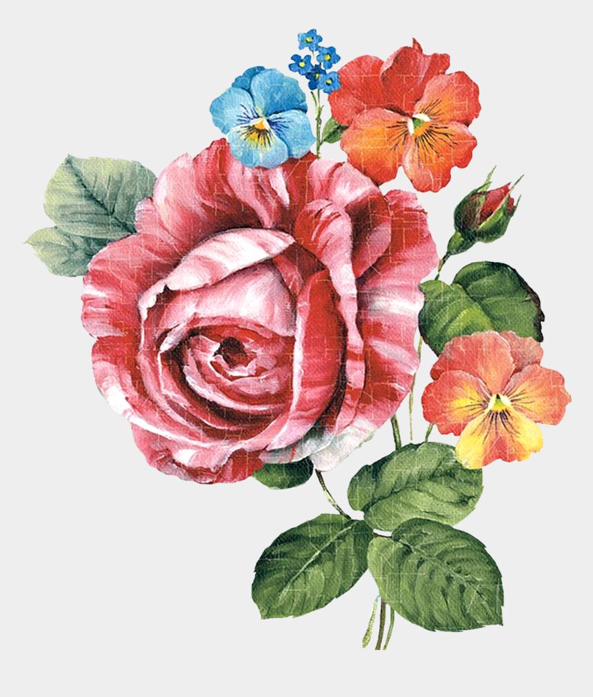 painted flower clipart, Cartoons - Paint Flower Cliparts - Dekupaj Desenleri Yüksek Çözünürlük