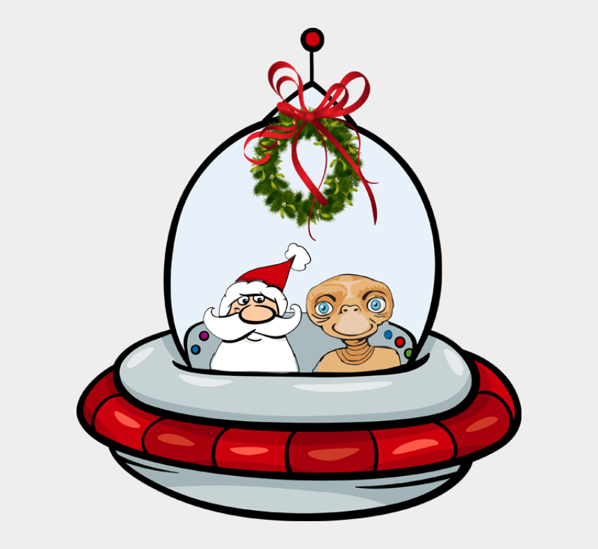snow tubing clipart, Cartoons - Great Santa Clip Art - Santa Claus Spaceship