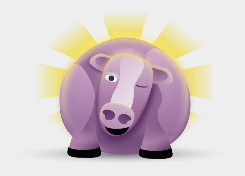 purple cow clipart, Cartoons - Cattle Purple Cow - Fat Purple Cow