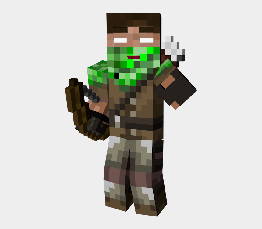 minecraft characters clipart, Cartoons - Spoiler - Minecraft Enderman Hunter Skin