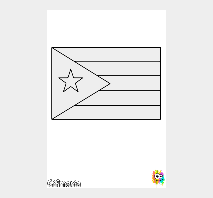 puerto rico map clipart, Cartoons - Bandera De Puerto Rico - Puerto Rico Flag Coloring Page