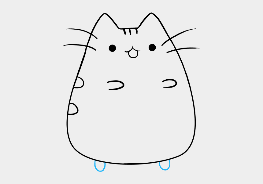 pusheen cat clipart, Cartoons - How To Draw Pusheen The Cat - Easy To Draw Pusheen