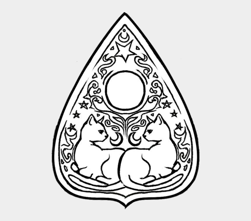 ouija board clipart, Cartoons - [little Grey Cat Theme] - Ouija Board Planchette Drawing