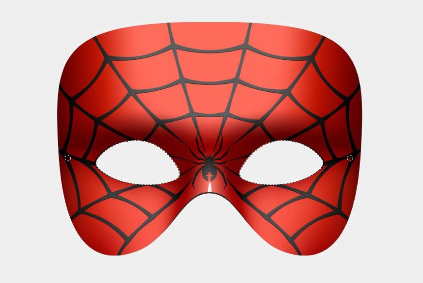 superhero mask clipart no background, Cartoons - Spiderman Mask Png - Mascara De Mujer Araña