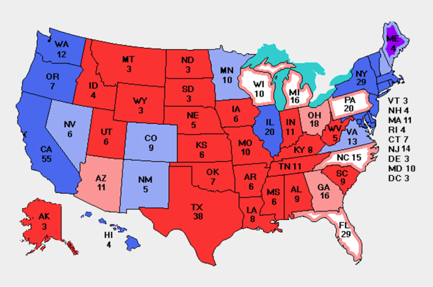 college clipart images, Cartoons - Collection Of Electoral High Quality Free Ⓒ - Electoral Vote Map