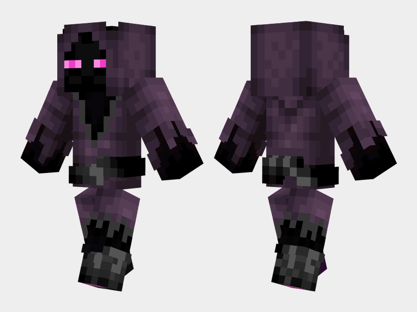 Cloaked Enderman Minecraft Green Steve Skin Cliparts