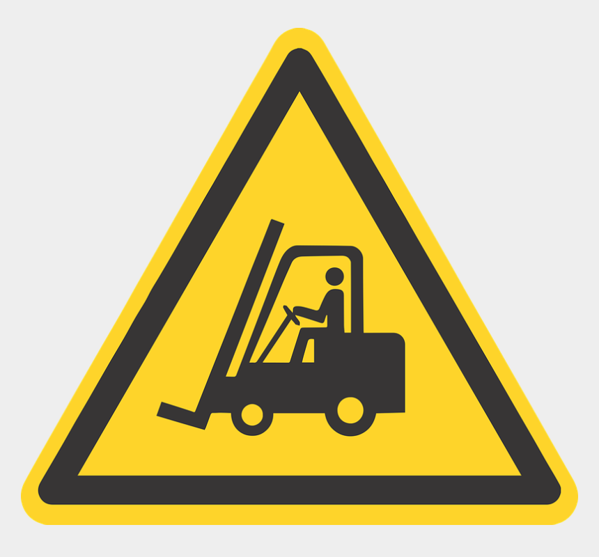 stand up forklift clipart, Cartoons - Tampa's Strategic Location As A Deep-water Port In - Risk Of Falling Sign