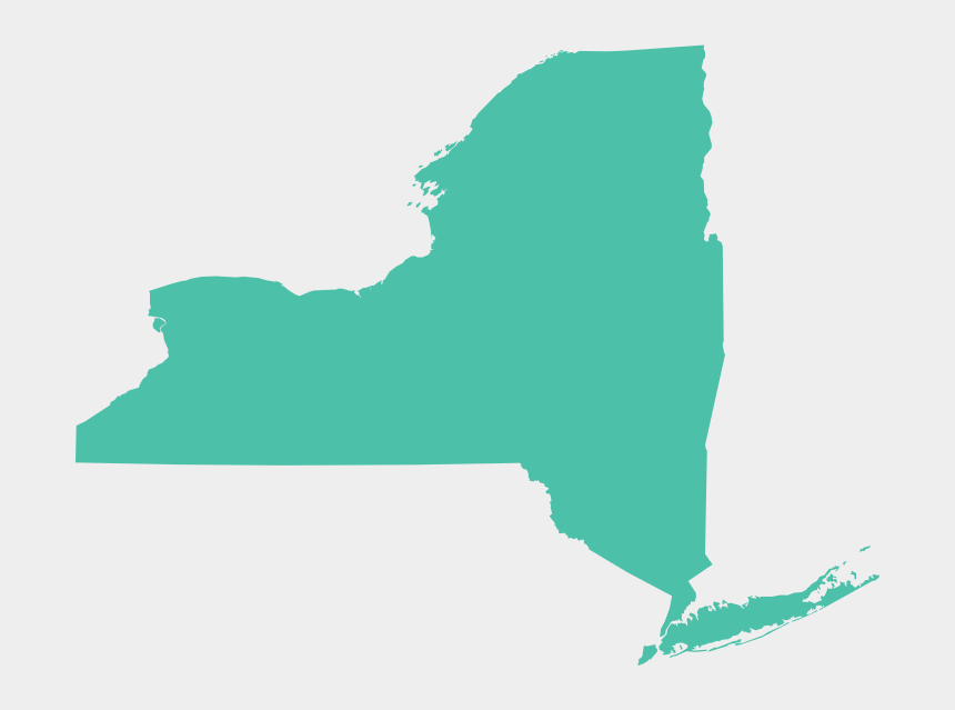 state of new york clipart, Cartoons - New York Map - New York State Transparent