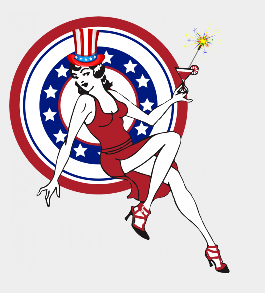 girl kicking a soccer ball clipart, Cartoons - Happy 4th Of July - Drive Sober Get Pulled Over