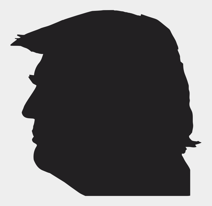 donald trump clipart black and white, Cartoons - This Png File Is About Human Beast Hybrid , Donald - Trump Head Profile Image Silhouette