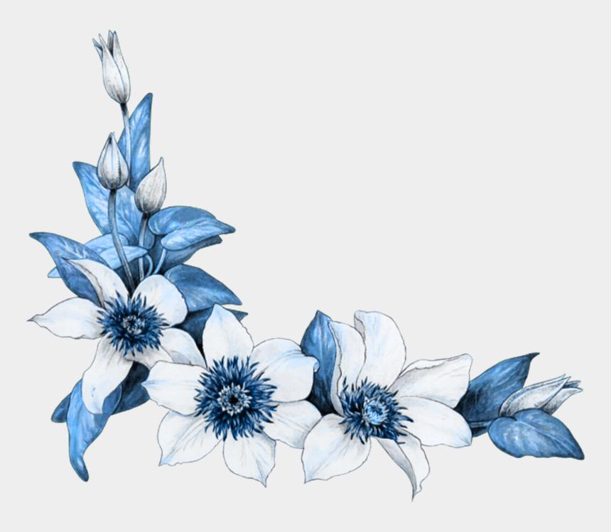 corner design clipart, Cartoons - Corner Design For Project Clipart , Png Download - Flower Corner Design For Project