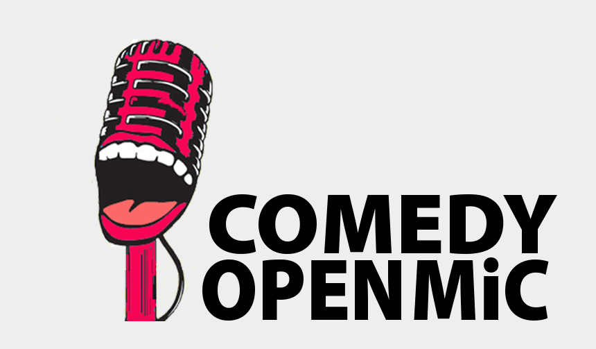 dinner theatre clipart, Cartoons - Microphone Clipart Comedy - Open Mic Logo