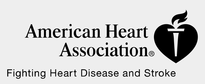 american heart association clipart, Cartoons - American Heart Association Logo Black And White - American Heart Association