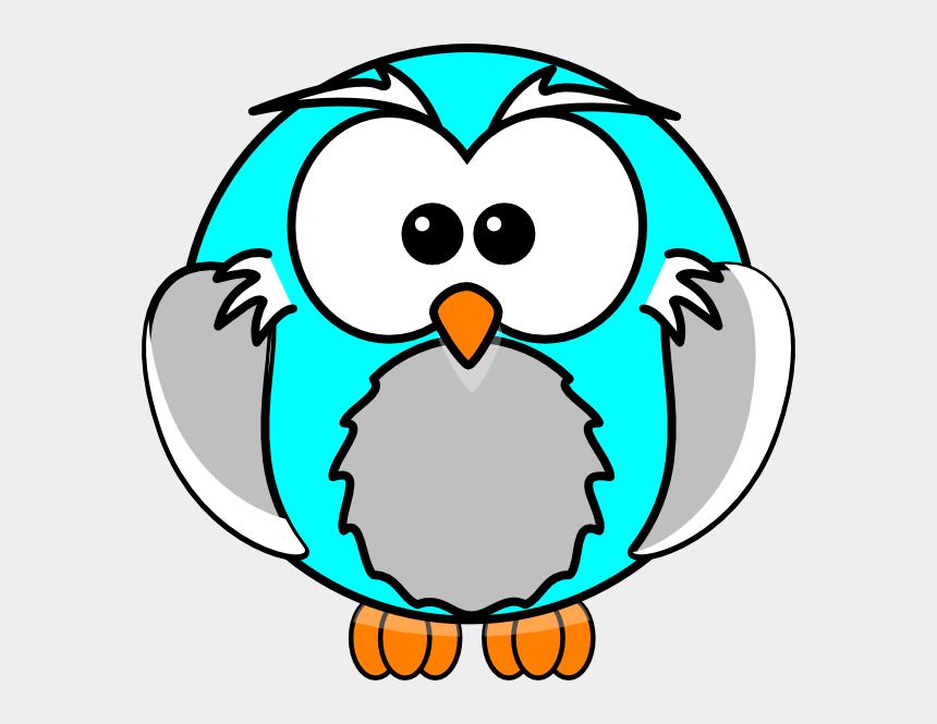 cute blue owl clipart, Cartoons - Blue Owl Clip Art - Printable Cartoon Coloring Book