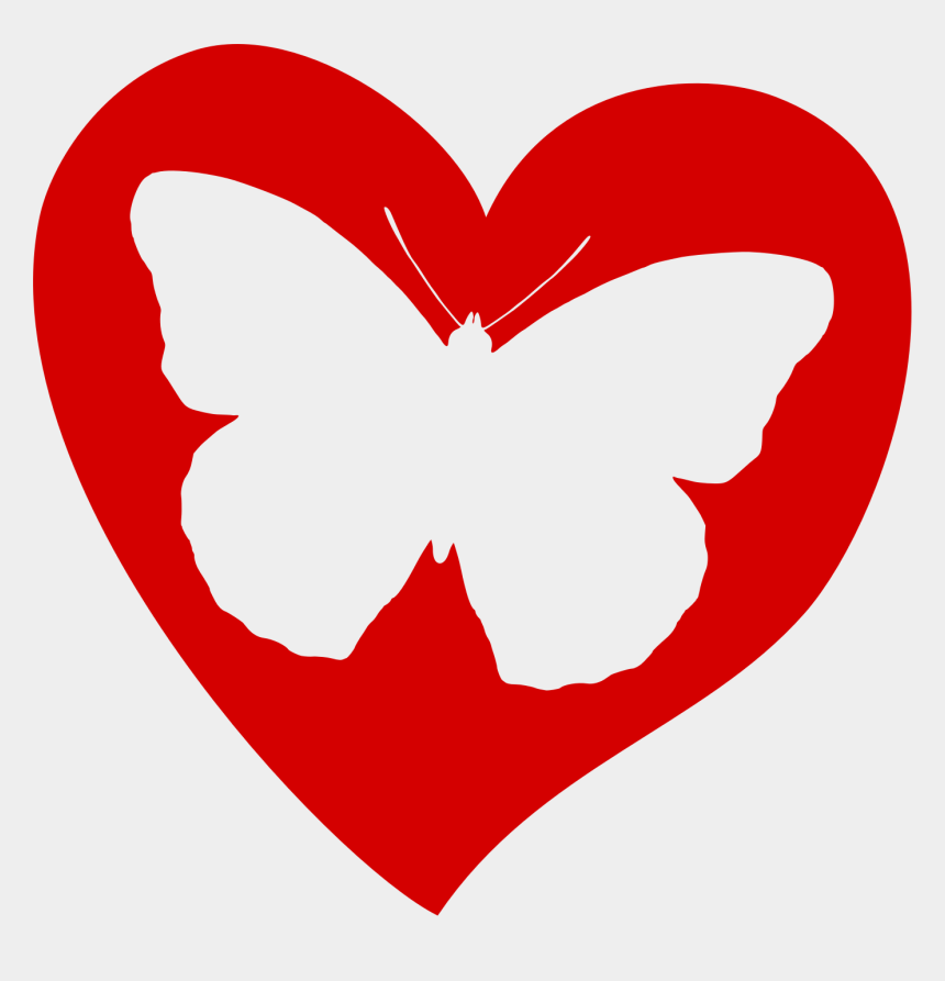 heart butterfly clipart, Cartoons - Butterfly Heart - Butterfly In Heart