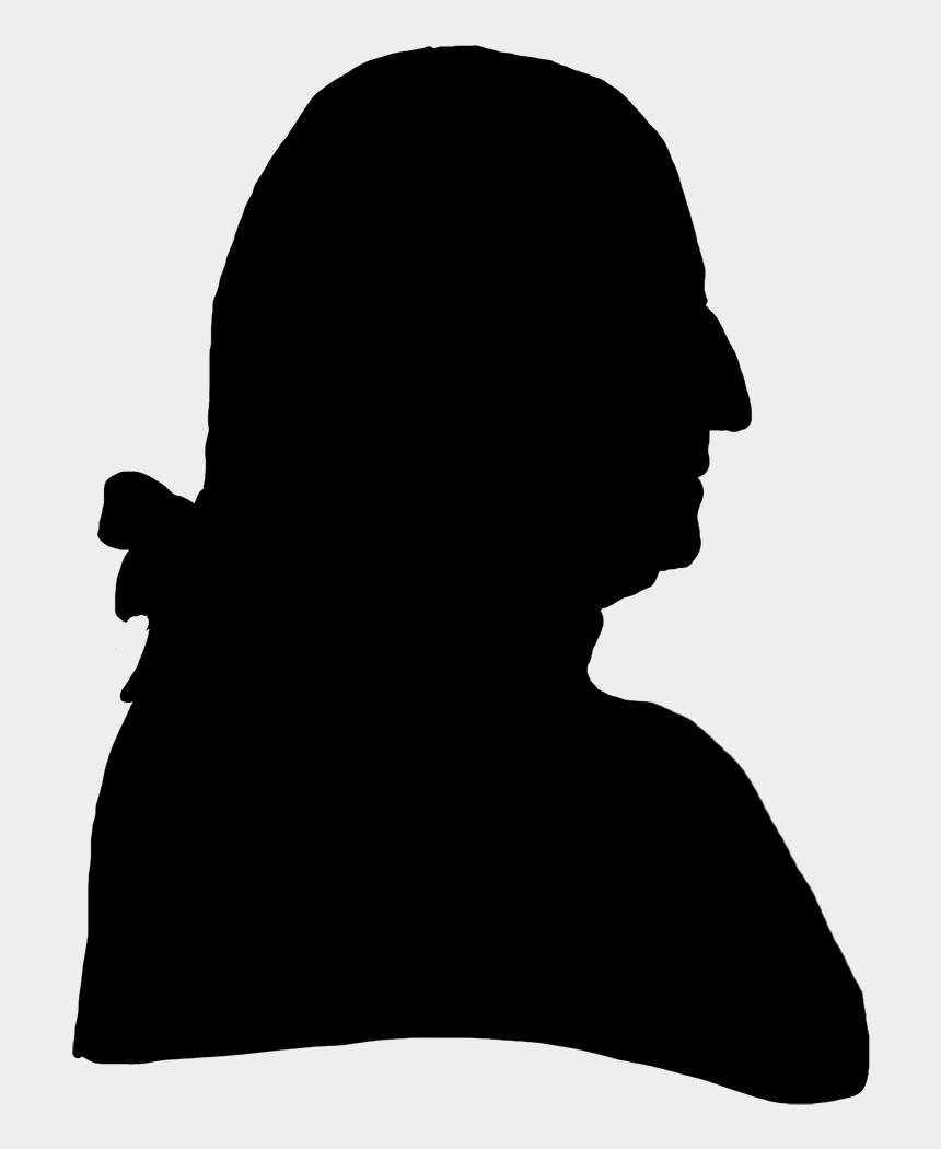 man profile clipart, Cartoons - Victorian Gentleman Profile - Silhouette 18th Century Man