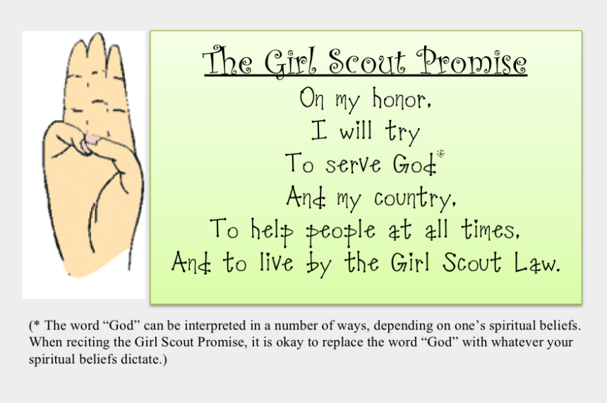 girl scout promise clipart, Cartoons - The Girl Scout Law - Girl Scout Of The Philippines