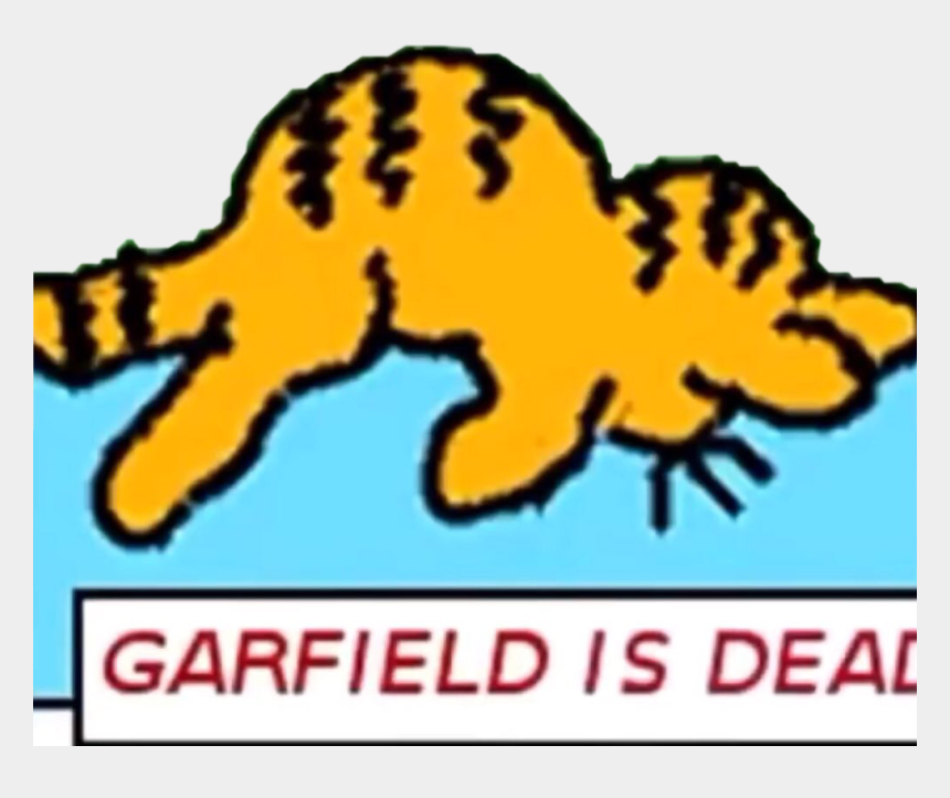 Garfield Dead Garfild Freetoedit Garfield Is Dead Meme Cliparts Cartoons Jing Fm