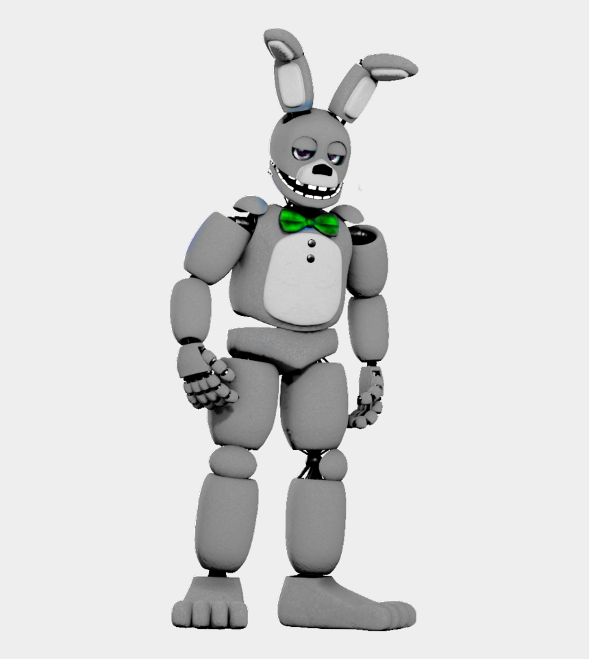 fnaf clipart black and white, Cartoons - #fnaf White Rabbit - Fnaf Withered Spring Bonnie